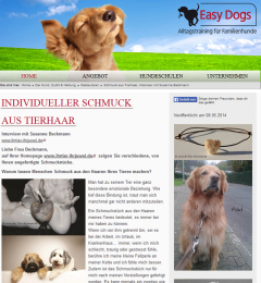 Easy Dogs Interview Tierhaarschmuck Susanne Beckmann Ihr Tier. Ihr Juwel!